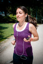 Beautiful woman fitness running at the park Royalty Free Stock Photos