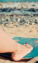 Beautiful woman foot Stock Photos