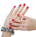 Beautiful woman hands Stock Photos