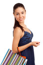 Beautiful woman holding shopping bags Royalty Free Stock Photography