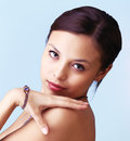 Beautiful woman with jewellery Royalty Free Stock Photo