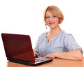 Beautiful woman with laptop s Royalty Free Stock Photo
