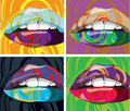 Beautiful Woman lips illustration Royalty Free Stock Images
