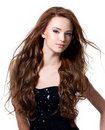 Beautiful woman with long hairs Stock Photo