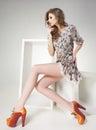 Donna gambe vestire