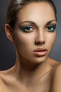 Beautiful woman with makeup young Royalty Free Stock Images