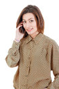 Beautiful woman making a call on her mobile phone Royalty Free Stock Photo