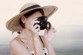 Beautiful Woman Photographer H...