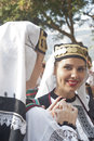 Beautiful woman of Poland folk group Stock Photography