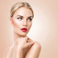 Beautiful woman portrait. Beauty Spa woman with perfect fresh skin Royalty Free Stock Photo