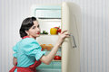 Sixties refrigerator advertising Royalty Free Stock Photo