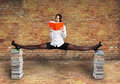 Beautiful woman is reading a book Royalty Free Stock Photo