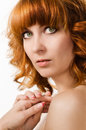 image photo : Beautiful woman with red hair