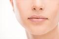 Beautiful woman's lips close-up