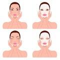 Beautiful woman`s skin care