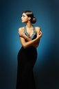 Beautiful woman in sexy evening dress Royalty Free Stock Photo