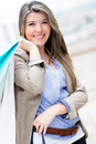 Beautiful woman shopping Stock Photos