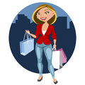 Beautiful woman shopping Royalty Free Stock Images