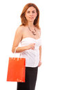 Beautiful woman with shopping bag Stock Image