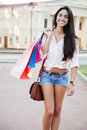 Beautiful woman with shopping bags Royalty Free Stock Photo