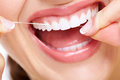 Beautiful woman smile dental health care clinic Royalty Free Stock Image