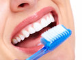 Beautiful woman smile dental health care clinic Stock Photography