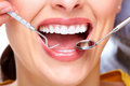 Beautiful woman smile dental health care clinic Royalty Free Stock Images