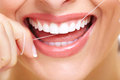 Beautiful woman smile dental health care clinic Stock Photo