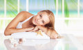 Beautiful woman on the spa resort Royalty Free Stock Photo