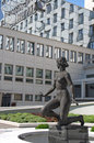 Beautiful woman statue in front of Hotel Metropol Palace in Belgrade Royalty Free Stock Photo