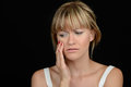 Beautiful woman with toothache nice image of a Stock Photo