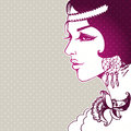 Beautiful woman vector illustration of Royalty Free Stock Images