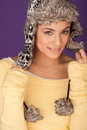 Beautiful woman in warm winter hat Royalty Free Stock Photo