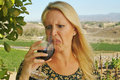 Beautiful Woman Wine Tasting Royalty Free Stock Photo