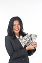 Beautiful woman withgood job and success careers the Royalty Free Stock Photos