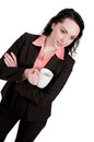 Beautiful woman young upwardly mobile business with coffee Stock Photos