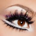 Beautiful womanish eye close up of Stock Photo