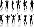 Beautiful women dancing Stock Image