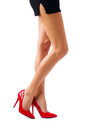 Beautiful women legs woman in red high heel shoes Royalty Free Stock Images