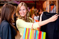 Beautiful women shopping Royalty Free Stock Images