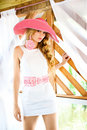 Beautiful women in a white dress Royalty Free Stock Photo