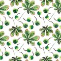 Beautiful wonderful graphic bright floral herbal autumn green maple