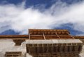 Beautiful wooden work on windows and balcony in leh palace was constructed th century by king namgyal Stock Images