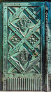 Beautiful wrought iron door- Cracow, Poland- Saint Mary Basilica-Mariacki Church Royalty Free Stock Photo