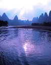 Beautiful yangshuo landscape guilin china natural scenery Stock Photo