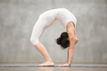 Beautiful Yoga: Advanced Bridge pose Royalty Free Stock Photo