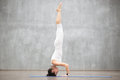 Beautiful Yoga: Headstand pose Royalty Free Stock Photo