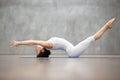 Beautiful Yoga: Matsyasana pose Royalty Free Stock Photo
