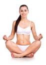 Beautiful yoga woman  Royalty Free Stock Photo