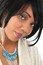 Beautiful Young African American Female Headshot Royalty Free Stock Images